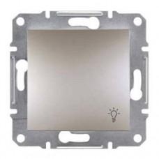 EPH0900169 Кнопочный выключатель с символом свет Asfora. Цвет Бронза