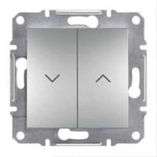 Выключатель для жалюзи Asfora IP20. Цвет Алюминий EPH1300161