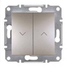 Выключатель для жалюзи Asfora IP20. Цвет Бронза EPH1300169