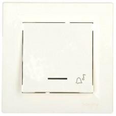 EPH1700121 Кнопочный выключатель с подсветкой и символом звонок Asfora IP20