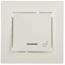 EPH1700123 Кнопочный выключатель с подсветкой и символом звонок Asfora IP20