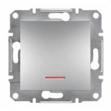 Выключатель с подсветкой серии Asfora IP20. Цвет Алюминий EPH1400161