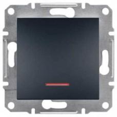 Выключатель с подсветкой серии Asfora IP20. Цвет Антрацит EPH1400171