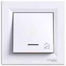 """EPH1900321 Кнопковий вимикач з підсвічуванням та символом """"сходи"""" Asfora IP20"""