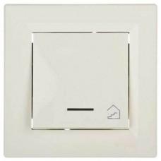 EPH1900323 Кнопочный выключатель с подсветкой и символом лестница Asfora IP20