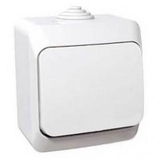 Одноклавишный наружный выключатель 16A Cedar Plus. Белый. WDE000510