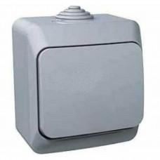 Одноклавишный наружный выключатель 16A Cedar Plus. Серый. WDE000610