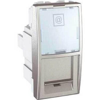 MGU3.410.30 Розетка комп'ютерна RJ45 кат. 5е, UTP 1 модуль серія Unica