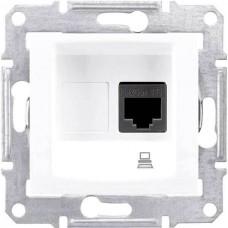 SDN4300121 Компьютерная розетка UTP RJ45 кат.5e неэкранированная Sedna. Цвет Белый