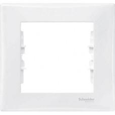 SDN5800121 Декоративная рамка 1-постовая Sedna. Цвет Белый
