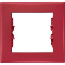 SDN5800141 Декоративная рамка 1-постовая Sedna. Цвет Красный