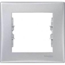 SDN5800160 Декоративная рамка 1-постовая Sedna. Цвет Алюминий