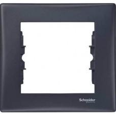 SDN5800170 Декоративная рамка 1-постовая Sedna. Цвет Графит