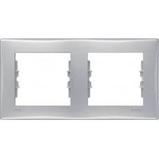 SDN5800360 Декоративная рамка 2-постовая горизонтальная Sedna. Цвет Алюминий