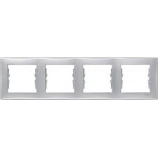 SDN5800760 Декоративная рамка 4-постовая горизонтальная Sedna. Цвет Алюминий