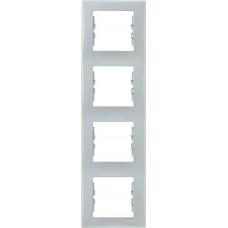 SDN5802033 Декоративная рамка 4-постовая вертикальная Sedna. Цвет Серый