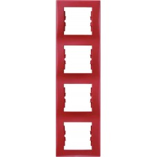 SDN5802041 Декоративная рамка 4-постовая вертикальная Sedna. Цвет Красный