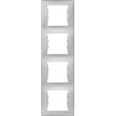 SDN5802060 Декоративная рамка 4-постовая вертикальная Sedna. Цвет Алюминий