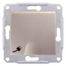 SDN3100168 Розетка с заземлением, защитными шторками и крышкой 16А, 250 В Sedna. Цвет Титан