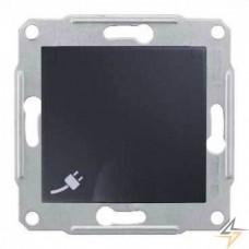 SDN3100170 Розетка с заземлением, защитными шторками и крышкой 16А, 250 В Sedna. Цвет Графит