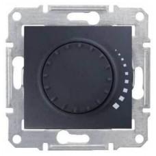 SDN2200570 Светорегулятор поворотно-нажимной проходной 60-500 Вт/ВА серии Sedna. Цвет Графит