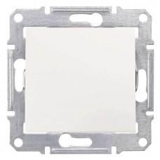 SDN0100123 Одноклавишный выключатель 10 A серии Sedna. Цвет Слоновая кость
