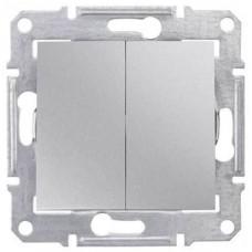 SDN0300160 2-клавишный выключатель 10 A серии Sedna. Цвет Алюминий