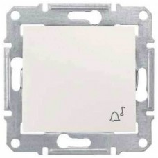 SDN0800323 Кнопочный выключатель с символом «звонок» 10A IP44 серии Sedna. Цвет Слоновая кость