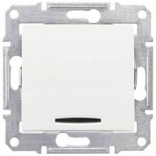 SDN0201123 Одноклавишный двухполюсный выключатель с индикацией 10A серии Sedna. Цвет Слоновая кость
