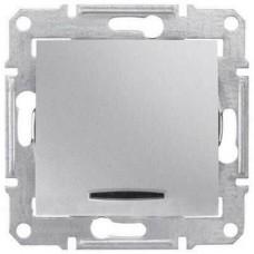SDN0201160 Одноклавишный двухполюсный выключатель с индикацией 10A серии Sedna. Цвет Алюминий