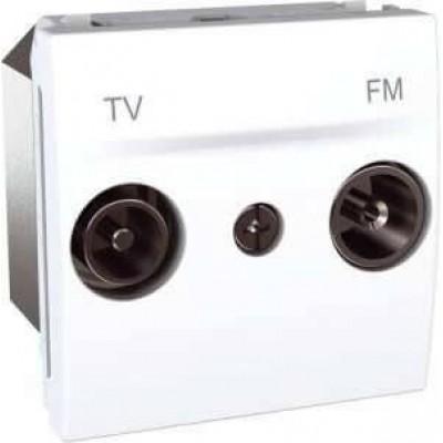 MGU3.453.18 Розетка TV-R прохідна серія Unica