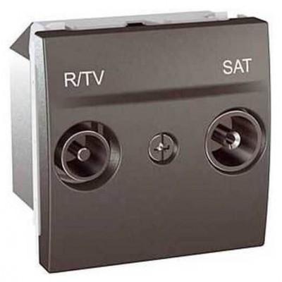 MGU3.456.12 Розетка TV-R\SAT проходная серия Unica