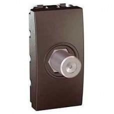 Розетка для ТВ одиночная гнездовой разъем серия Unica MGU3.468.12