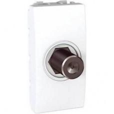 Розетка для ТВ одиночная гнездовой разъем серия Unica MGU3.468.18