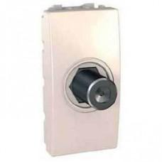 Розетка для ТВ одиночная гнездовой разъем серия Unica MGU3.468.25