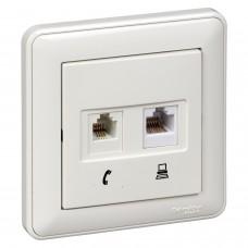 TV антенный коннектор для скрытой установки W59 белый (RTS-151-18)