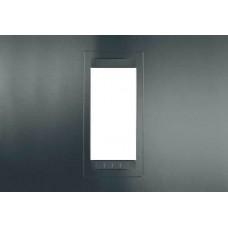 Рамка 1-модульная Unica Allegro. Цвет Серый графит MGU4.101.62