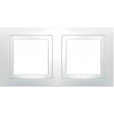 Рамка двухместная белая Unica Basic MGU2.004.18