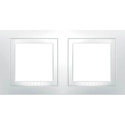 Рамка 2-местная белая Unica Basic MGU2.004.18