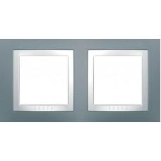 Рамка двухместная серый техно Unica Basic MGU2.004.858