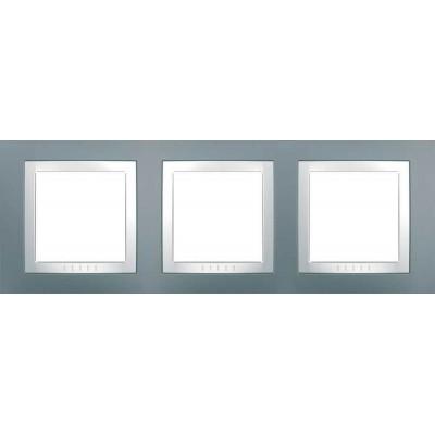 Рамка 3-місна Сірий техно Unica Basic MGU2.006.858