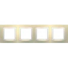 Рамка четырехместная кремовая Unica Basic MGU2.008.559