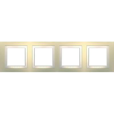 Рамка 4-місна кремова Unica Basic MGU2.008.559