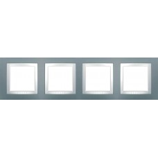 Рамка четырехместная серый техно Unica Basic MGU2.008.858