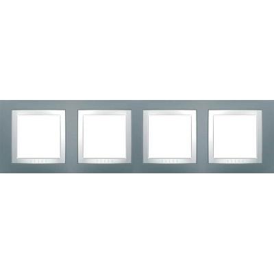 Рамка 4-местная серый техно Unica Basic MGU2.008.858