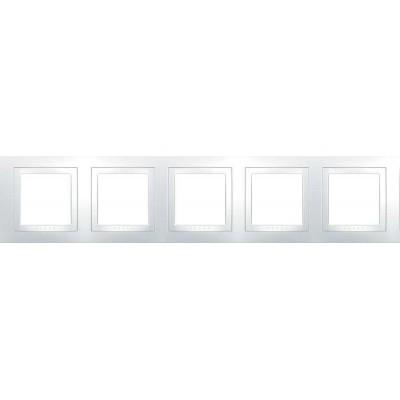 Рамка 5-местная белая Unica Basic MGU2.010.18