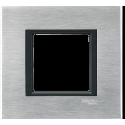 MGU68.002.7A1 Рамка 1-постовая серебристый алюминий Unica Class