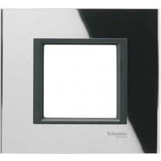 Рамка 1-постовая черное зеркало Unica Class MGU68.002.7C1
