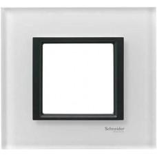 Рамка 1-постовая белое стекло Unica Class MGU68.002.7C2