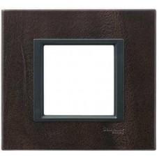 Рамка 1-постовая кожа трюфель Unica Class MGU68.002.7P2
